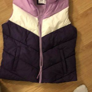 GAP Womens Multi Color PUFFER VEST SMALL NWT